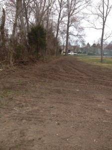 After the project was completed. Graded  and ready for seed.
